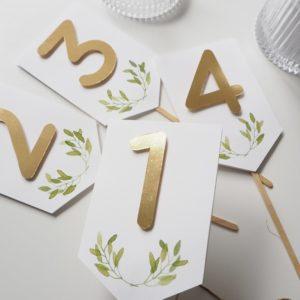 Numery stołów Rustic